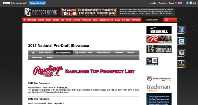Named Perfect Game 2016 Top Prospect | Alec Marsh